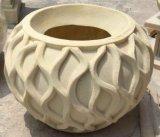 Flowerpot сада песчаника высеканный Polyresin напольный