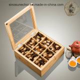 Casella di legno del pino di alta qualità con i divisori per l'imballaggio del tè