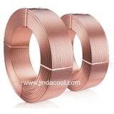 水平な傷のコイルの銅管の銅のコイル
