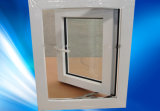 Giro de la ventana de PVC con soporte de viento