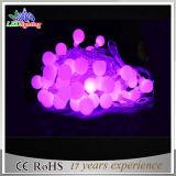 Lumières pures de chaîne de caractères de motif de décoration de vacances de la bille DEL de couleur