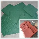 Azulejo de goma al aire libre/azulejos de goma que se enclavijan/pavimentadora de goma colorida