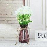 Nuevo diseño colorido florero de vidrio para la decoración del hogar