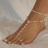 Playa La Perla de imitación Sandalia Anklet descalzo