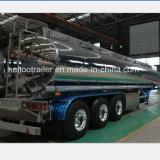 40000リットルのミラーのアルミニウムガソリンまたは石油タンクトレーラー