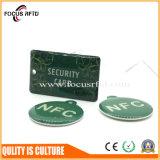 Quadrado tamanho mini chave RFID Tag com tinta epóxi e Furos