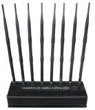 Ajustável fixa 4G Jammer Celular GSM CDMA 3G WiFi GPS Lojack,Bloqueador de sinal para todos os 2g, 3G, 4G Cellular,433MHz,315MHz,,GPS, Wi-Fi,VHF UHF Lojack Jammer