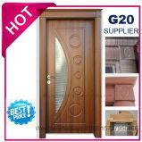 Puerta redondeada de madera interior económica del PVC del MDF (EI-P057)