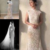 Mermaid шнурка выравнивая Bridal мантию Ksm66058 венчания платья