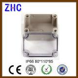 80*110*85 PI66 compartimento plástico Tampa Transparente à prova de tipo Open-Close ABS na caixa de comutação