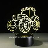 Custom 3D de changement de couleur de lumière de nuit 7 LED Lampe de bureau acrylique Lampes de table