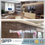 Azulejo de la pared de mármol de Brown para proyectos de uso con el pulido de superficies