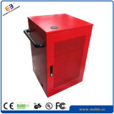 Cabina de carga coloreada roja del USB de la computadora portátil de la hoja de metal
