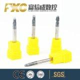 Fxc 2flute球の鼻が付いている新しいデザイン炭化物の端の製粉カッター