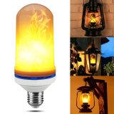 La decoración dinámica de la Navidad de la emulación del parpadeo de la lámpara del fuego del efecto de la llama del bulbo del maíz del LED enciende la lámpara del fuego de la simulación del LED
