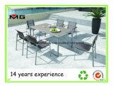 Venda a quente de aço inoxidável conjunto mesa de jantar ao ar livre