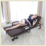 Портативная сложенная кровать с цветом тюфяка 190*65cm лиловым