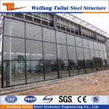 デザイン製造の研修会の倉庫の鉄骨構造の建物