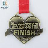 Китай полый заводская цена на литую деталь Custom старинной бронзовая медаль