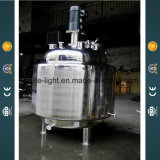 Líquido de acero inoxidable 300L calefacción eléctrica de vapor Jacket depósito mezclador