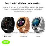 Montre intelligente de Bluetooth 4.0 avec le moniteur du rythme cardiaque (K89)
