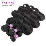 自然なカラー100%インド人のバージンの毛のよこ糸