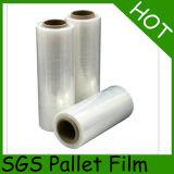 Película plástica do PE material puro de 100%, película de estiramento para a embalagem