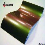 Os espectros de materiais de decoração interior de painel composto de alumínio