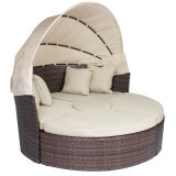 Rattan Outdoor Daybeds con Canopy Sand Cushions