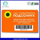 PVCのバーコードが付いている印刷のプラスチックカード
