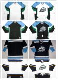 주문을 받아서 만들어진 Mens 여자의 아이 2018년 Echl 알래스카 에이스 관례 어떤 이름 어떤 수 백색 도로의 살얼음 하키 Jerseys Goalit에 의하여 삭감되는 최신 판매