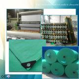 PEの防水シートの深緑色の&Gray防水プラスチック屋根ふきカバー