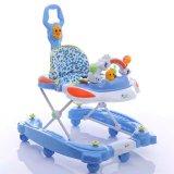 Deslizar venda por atacado grande do caminhante do bebê do modelo novo das rodas a melhor