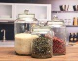 Freies Glasgroßhandelsglas mit gedichteter Schutzkappe zur Speichernahrung/-süßigkeit/-tee
