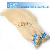 ヨーロッパ613#ブロンドカラー試供品の毛の束