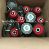 75mm Stainless Steel Wheel Brush con Shaft (YY-583)