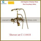 Douche sanitaire noire D-114318 réglé de robinet de salle de bains d'articles