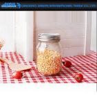bouteille en verre ronde de mémoire de nourriture de la surface lisse 470ml