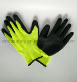 Gants protecteurs de travail de sûreté enduits par latex de travail industriel