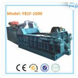 Presse en aluminium hydraulique d'en cuivre de débris de fer de rebut Y81f-1250