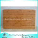 Tarjeta de corte de bambú de bambú carbonizada de la cubierta de rectángulo de la tarjeta de bambú del color