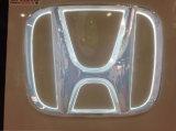 Signature de logo de voiture en plastique brillant au revêtement sous vide