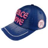 Горячим бейсбольная кепка помытая сбыванием с логосом Bb1712 Applique