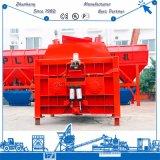 Js1500 dwong de dubbel-As Hydraulische Concrete Mixer van de tweeling-Schacht