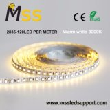 Resistente al agua IP65 tira de LED FLEXIBLE DE 24V 12V de la tira de LED flexible