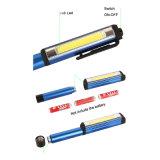 250 lúmenes clip magnético bolígrafo linterna de bolsillo de la COB la luz de trabajo