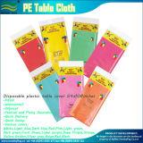 Entrega rápida barata varios colores Manteles desechables de plástico PE