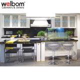 Welbom blanco MDF estilo europeo, gabinetes de cocina