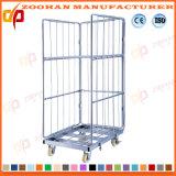Recipiente da gaiola do armazenamento do engranzamento de fio do metal da capacidade elevada (ZHra69)
