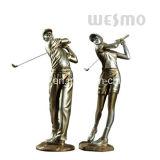 Figurines estremi del colpo di pratica della resina (WTS0008A&B)
